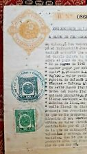 PERU revenues mark Distrito de Pariñas on legal sealed document, Talara 1941