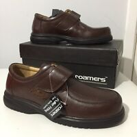 Roamers Fuller Fitting Men's Brown Leather Superlight Shoes Size UK 8 New In Box