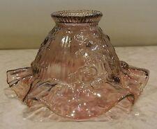 Fenton Art Glass Purple Iridescent Cabbage Rose Ruffled Fairy Lamp Shade