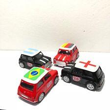 4 Pcs Mini cooper Cars Toy Metal Nestle KitKat Souvenirs World Cup 2018 Russian