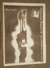 David Bowie Scary monsters 1981 press advert Full page 28 x 39 cm mini poster