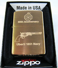 UBERTI 1851 Navy 50th Anniversary Brass ZIPPO LIGHTER .
