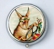 Steampunk Rabbit pill case pillbox holder pill boxes anthropomorphic Kitsch