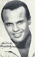 Harry Belafonte Penny Arcade Card 3 x 5 post Movie TV Star promo 1950s-60s Nice