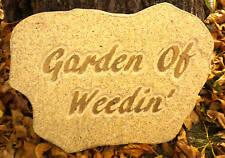 Garden Of Weedin Plaster Concrete garden plaque plastic mold