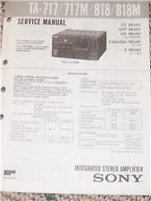 Sony TA-717/717M/818Integrated Amplifier Service Manual