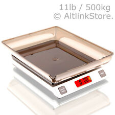 SAGA Digital Kitchen Scale 11lb 5kg / 5000g X 1g oz Diet Food Postal W/S/Bw Bowl
