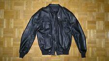 DANIELE ALESSANDRINI GIUBBOTTO PELLE Tg. 46 Nero (Leather Jacket, Giubbino)