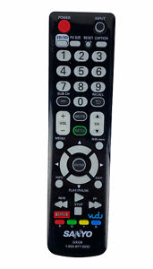 Sanyo GXGB OEM Original TV Television Replacement Remote Control Tested Black