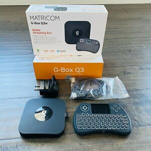 Matricom G-Box Q3 Android TV Box with Remote. Tested