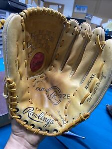 "RAWLINGS SOFTBALL GLOVE # RSGXL 14 IN. RHT  ""SUPERSIZE""- EXCELLENT +SEE PICTURES"