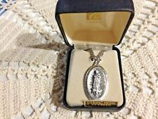 "CREED ""OUR LADY of GUADALUPE ""STERLING SILVER Medal 24"" Chain, Boxed Case NEW"