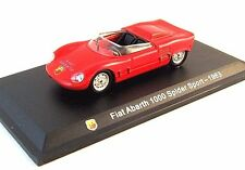 FIAT 1000 ABARTH SPIDER SPORT 1963 EDICOLA 1/43 DIECAST CAR COLLECTOR'S  MODEL