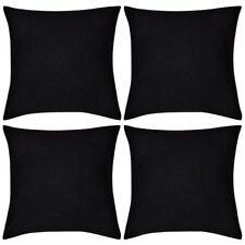 vidaXL 4x Kissenbezug Bezüge Hülle 100% Baumwolle mit Reißverschluss 40 x 40 cm