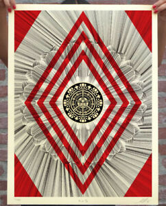 Fairey sunny & kai limited edition signed print Obey K+S flower diamond In Hand