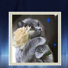 Fun Gifts Cat Cross Stitch Diamond Painting Never Fade Large Pictures 5d DIY 6n