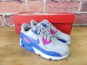 Nike Air Max  Kids Sneakers-Size 11.5 C 12 C 1.5 Y  C-Gray / Blue / Pink