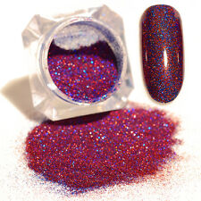 BORN PRETTY  Holographicss Laser Powder Holo Nail Art Glitter Blue & Red