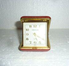 Vintage Westclox Folding Travel Alarm Clock Red Case Working  S-53