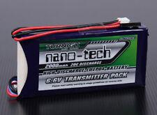 TURNIGY NANO-TECH 2000mAh 2S 6.6V 20C-40C LiFe Po4 TRANSMITTER BATTERY JR FUTABA
