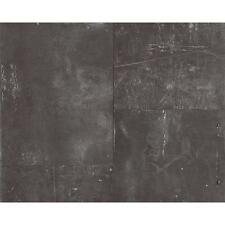 AS CREATION METAL PANEL SCRATCHED FAUX IRON EFFECT MURAL WALLPAPER 962231