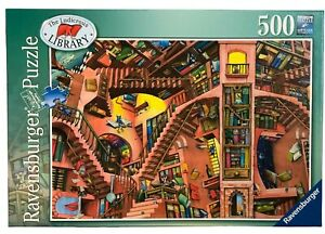 Ravensburger Colin Thompson COMPLETE Ludicrous Library 500 piece Jigsaw puzzle