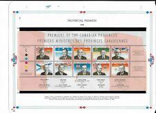 Mint Canada Stamps 1998 Provincial Premiers