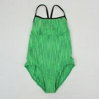 New Women's Nike One Piece Swimsuit Racer Back Green Sz XL SU27567 $88