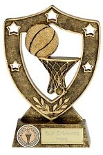 NO1009a/G RESIN BASKETBALL TROPHY SIZE 12.5CM FREE ENGRAVING
