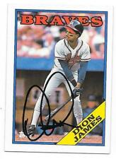 DION JAMES 1988 TOPPS AUTOGRAPHED SIGNED # 408 BRAVES