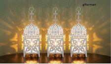 """3 white 11"""" Moroccan Marrakech Lantern Candle holder outdoor terrace patio cheap"""