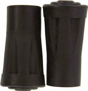 """2pc 5/8"""" Reinforced Rubber Replacement Tip Cap Hiking Walking Stick Cane Walker"""