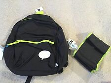 Gap Kids Backpack And Lunch Bag Black Neon Green NWT