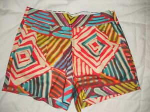 NWT J CREW WOMENS  GEO BRUSHSTROKES SHORTS IN MULTI-COLOR SIZES 00, 0, 4