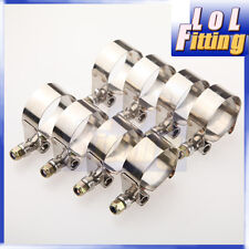 """8PCS 1"""" inch Turbo Pipe Hose Coupler T-bolt Clamps Stainless Steel 31-36mm"""