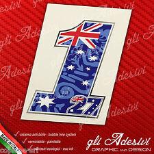 Adesivo Stickers Casey STONER 1 27 2012 Replica Champion