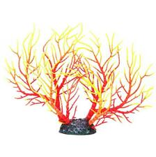 Red Yellow Artificial Coral Ornament Underwater Plants for Aquarium Fish Tank