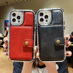 Card Slot Wallet Leather Hybrid Case Cover For iPhone 13 12 11 Pro Max XS XR 8 7