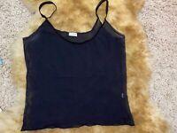 Intimissimi black mesh Camisole Top sleepwear nightwear size L