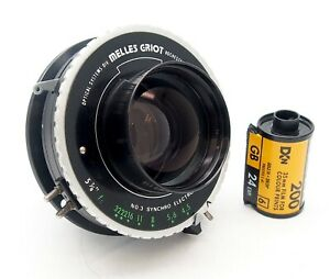 Rare Melles Griot 5.875 Inch F4.5 Lens in Synchro Electronic Shutter, UK Dealer