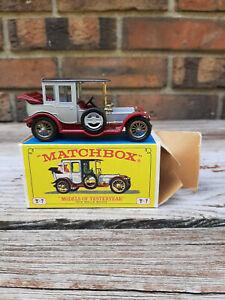 Vintage Matchbox Lesney Models of Yesteryear 1912 Rolls Royce Y-7 Original Box