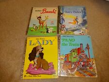 Vintage Lot Little Golden Book Lot - Bambi, Lady, Pano the Train, Fairy Tales
