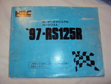 HONDA RS125 NX4 1997 MANUAL / PARTS LIST HRC RS
