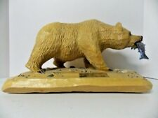 "Hand Carved ""Blonde Grizzly Bear"" Local BC Artist Allan MacPherson one of a kind"