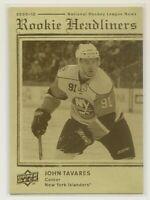 JOHN TAVARES ~ Rookie Headliners SP ~ 2009-10 Upper Deck #RH27 ~ NY ISLANDERS