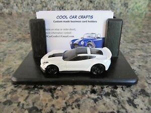 Corvette Z06 Business Card Holder oak white die cast C7 Chevrolet Salesman Fan