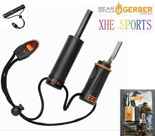 Gerber Multi Tool Bear Grylls Fire Starter Flint Whistle Survival 31-000699 Tool