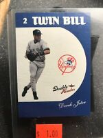 "2003 Fleer Baseball Derek Jeter "" TWIN BILL Double Header Card #8 YANKEES"