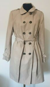 The Collection Debenhams Beige Cotton Poly Trench Coat Jacket - size 16