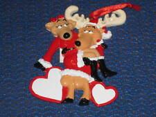 RAINDEER LOVERS CERAMIC CHRISTMAS ORNAMENT